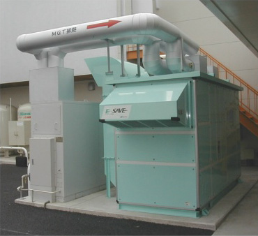 Cogeneration waste-heat driven desiccant air-conditioning system E-SAVE